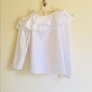 NEW Calvin Klein White Off Should Crisp Shirt 👚